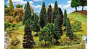 Faller 181529 OO/HO Scale Trees 15 X MIXED FOREST TREES / 70 - 90 mm