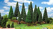 Faller 181542 OO/HO Scale Trees 15 X ASSORTED BIG FIR TREES / 90 - 150 mm