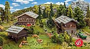 Faller 190064 OO/HO Scale Model Kit PROMOTIONAL ACTION SET - ALPINE VILLAGE