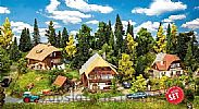 Faller 190071 OO/HO Scale Model Kit PROMO ACTION SET – BLACK FOREST VILLAGE
