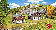 Faller 190162 OO/HO Scale Model Kit PROMOTIONAL ACTION SET – 2 X ALPINE HOUSES