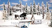 Faller 190499 OO/HO Scale Model Kit WINTER SCENIC SET III
