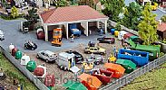 Faller 191733 OO/HO Scale Model Kit RECYCLING CENTRE - VARIOUS CONTAINERS