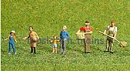 Faller 150934 HO/OO 1-87 Scale Figures AROUND THE ANIMAL ENCLOSURE X 6 FIGURE SET