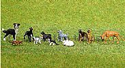 Faller 151902 HO/OO 1-87 Scale Figures CATS X 4 + DOGS X 8 FIGURE SET