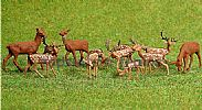 Faller 154007 HO/OO 1-87 Scale Figures FALLOW/RED DEER X 12 FIGURE SET