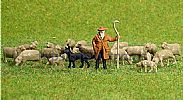 Faller 154001 HO/OO 1-87 Scale Figures SHEPHERD/SHEEPDOG/SHEEP x 20 FIGURE SET