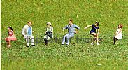 Faller 150921 HO/OO 1-87 Scale Figures SEATED PEOPLE X 6 FIGURE SET
