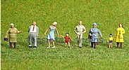 Faller 150907 HO/OO 1-87 Scale Figures PASSERS BY X 8 FIGURE SET