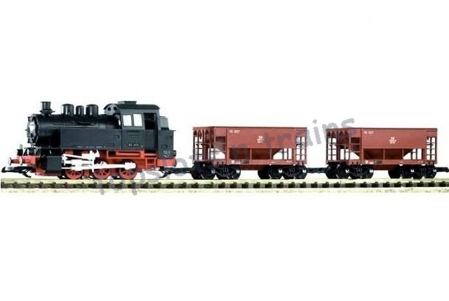 Piko 37100 G Scale - BR 80 STEAM FREIGHT STARTER TRAIN SET