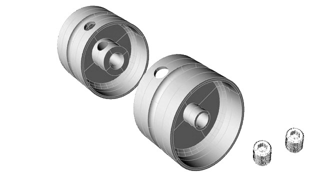 Ninco 61702 - XLOT REAR HUBS FOR 3MM AXLE