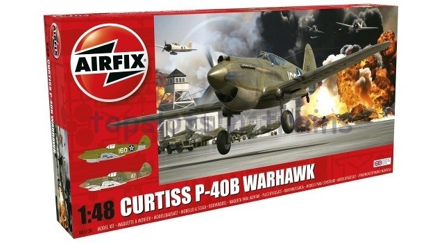 Airfix A05130 1/48 Scale Model Kit - CURTISS P-40B WARHAWK