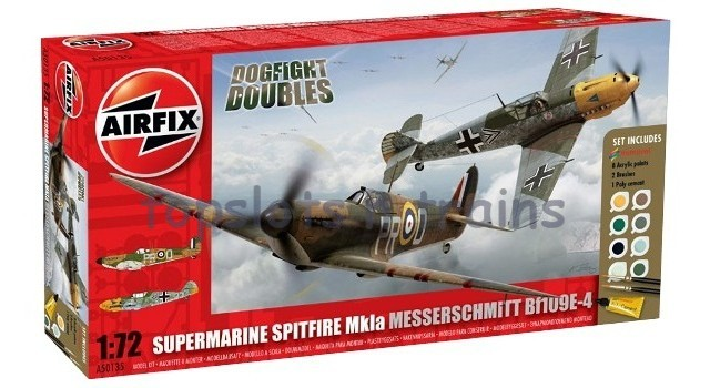 Airfix A50135 1/72 Scale Model Kit - SPITFIRE MkIa V BF109E - DOGFIGHT DOUBLE GIFT SET