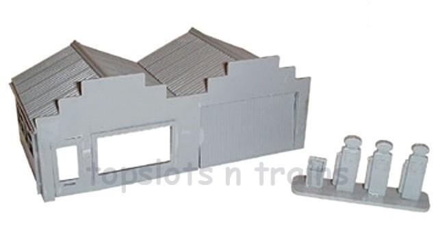 PETROL SERVICE STATION Model Railway KitMaster building