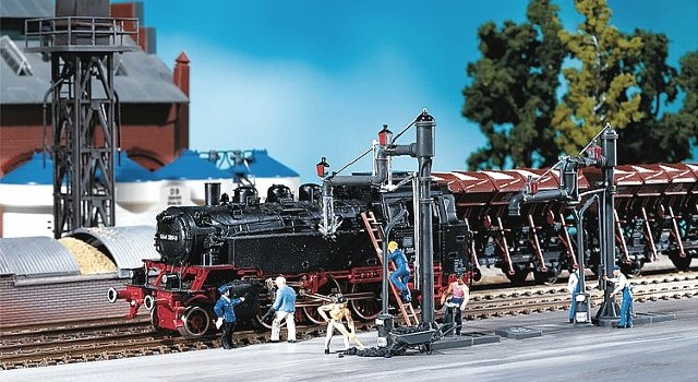 Faller 120137 OO/HO Scale Model Kit - 2 X ARTICULATED WATER CRANES