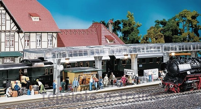 Faller 120187 OO/HO Scale Model Kit - COVERED PLATFORM WITHOUT DECORATION