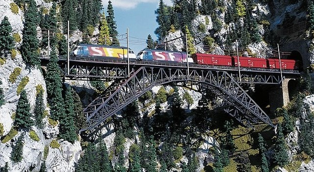 Faller 120535 OO/HO Scale Model Kit - BIETSCHTAL BRIDGE - 2-TRACK