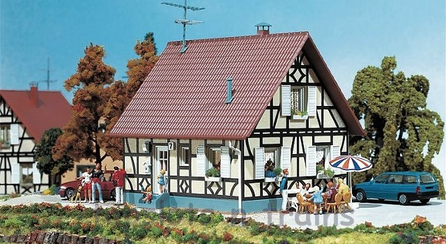 Faller 130221 OO/HO Scale Model Kit - HALF-TIMBERED DETACHED ONE FAMILY HOUSE