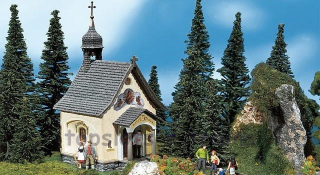 Faller 130237 OO/HO Scale Model Kit - ST BERNHARD CHAPEL - WITH SMALL BELL TOWER