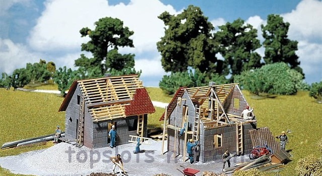 Faller 130246 OO/HO Scale Model Kit - SMALL HOUSE UNDER CONSTRUCTION