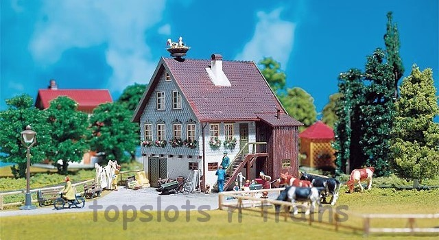 Faller 130280 OO/HO Scale Model Kit - HOUSE WITH STORKS NEST