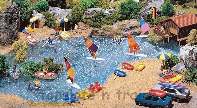 Faller 130283 OO/HO Scale Model Kit - BOATS AND WINDSURFING BOARDS