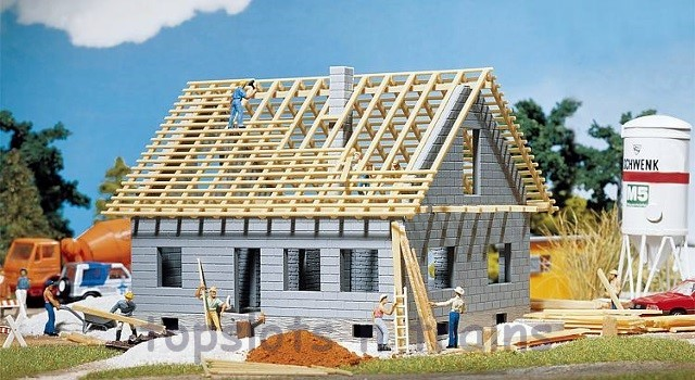 Faller 130303 OO/HO Scale Model Kit - DETACHED HOUSE UNDER CONSTRUCTION