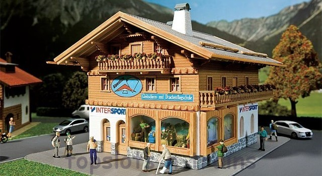 Faller 130331 OO/HO Scale Model Kit - SPORTS SHOP / PARAGLIDING SCHOOL - ALPINE STYLE