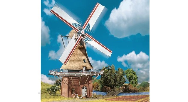 Faller 130383 OO/HO Scale Model Kit - WINDMILL WITH MOTOR - ERA I