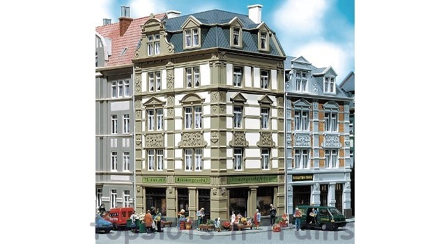 Faller 130916 OO/HO Scale Model Kit - GOETHESTRASSE 62 TOWN CORNERHOUSE