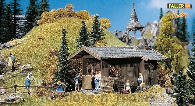 Faller 131302 OO/HO Scale Model Kit - HOBBY SERIES - MOUNTAIN CHAPEL