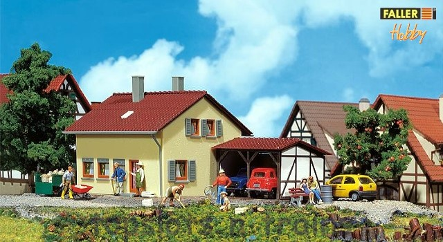 Faller 131358 OO/HO Scale Model Kit - HOBBY SERIES - SETTLERS HOUSE