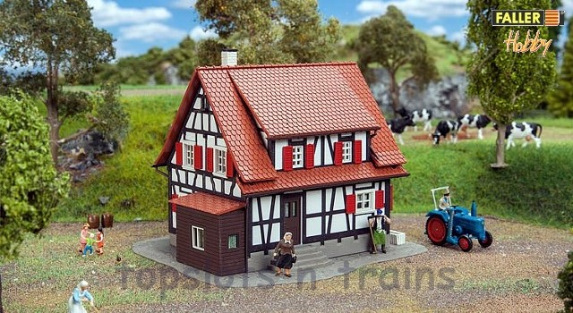 Faller 131374 OO/HO Scale Model Kit - HOBBY SERIES - HALF-TIMBERED HOUSE