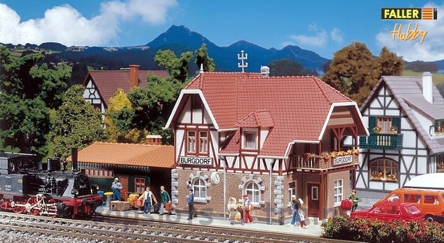 Faller 131377 OO/HO Scale Model Kit - HOBBY SERIES - BURGDORF RAILWAY STATION