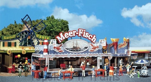 Faller 140445 OO/HO Scale Fairground Model Kit - FAIRGROUND BOOTH - SEA FISH