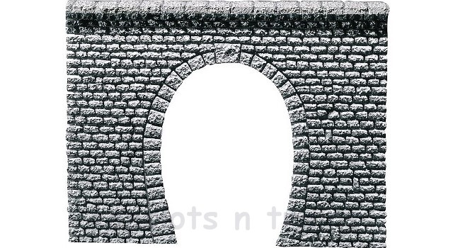 Faller 170880 OO/HO Scale Decorative Panel - NATURAL STONE TUNNEL PORTAL - SINGLE TRACK