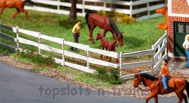 Faller 180416 OO/HO Scale Model Kit - WHITE PADDOCK FENCE - OVERALL LENGTH 1341 mm