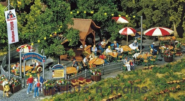 Faller 180564 OO/HO Scale Model Kit - BEER GARDEN - WITH TABLES CHAIRS etc