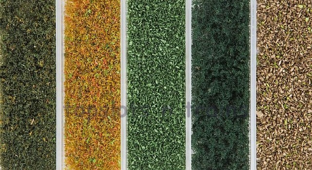 Faller 181389 OO/HO/N Scale Foliage - FOLIAGE MATERIAL AUTUMN MIX – 5 VARIETIES