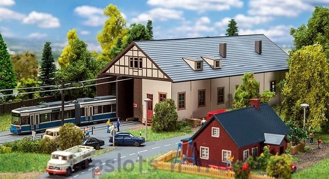 Faller 222101 N Scale Model Kit - NAUMBURG TRAM DEPOT