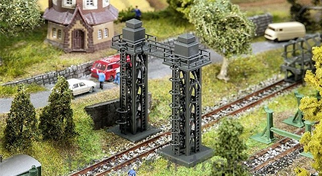 Faller 222166 N Scale Model Kit - DOUBLE SANDING TOWER