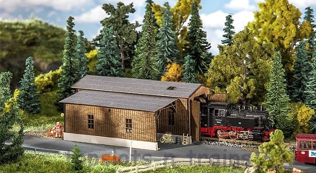 Faller 222167 N Scale Model Kit - OBERHARMERSBACH RAILWAY DEPOT - LASER-CUT