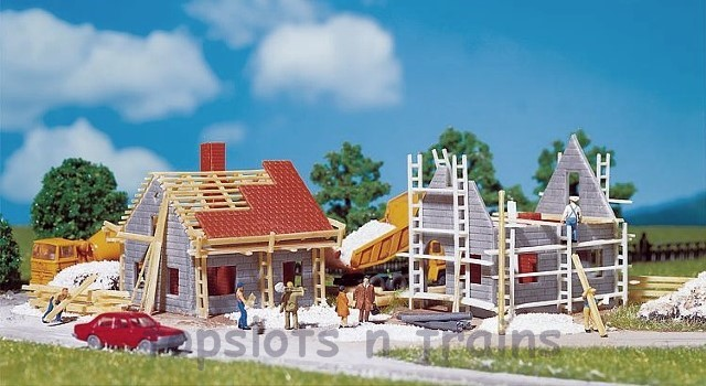 Faller 232223 N Scale Model Kit - 2 X HOUSES UNDER CONSTRUCTION