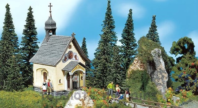 Faller 232239 N Scale Model Kit - ST BERNHARD CHAPEL - WITH SMALL BELL TOWER