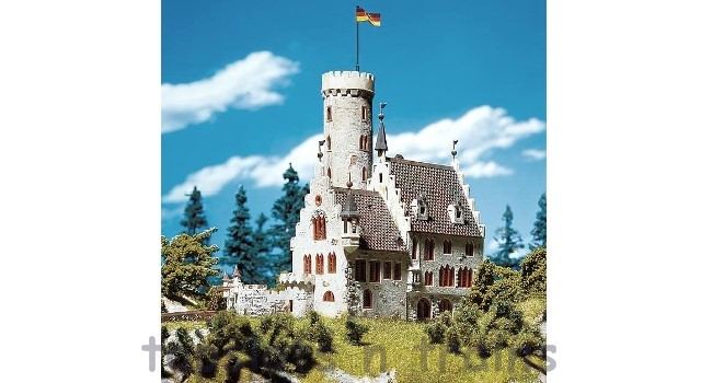 Faller 232242 N Scale Model Kit - MOATED CASTLE