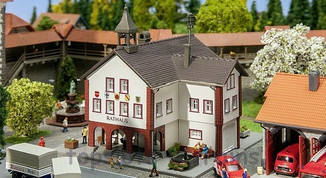 Faller 232303 N Scale Model Kit - TOWN HALL - WITH BELL TOWER