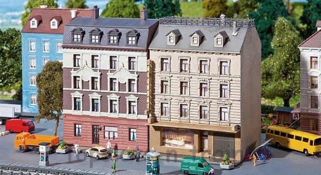 Faller 232312 N Scale Model Kit - 2 X TOWNHOUSES