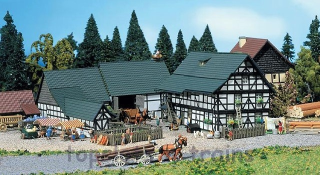 Faller 232360 N Scale Model Kit - FARM - WITH BUILDINGS / YARD / FARM EQUIPMENT etc