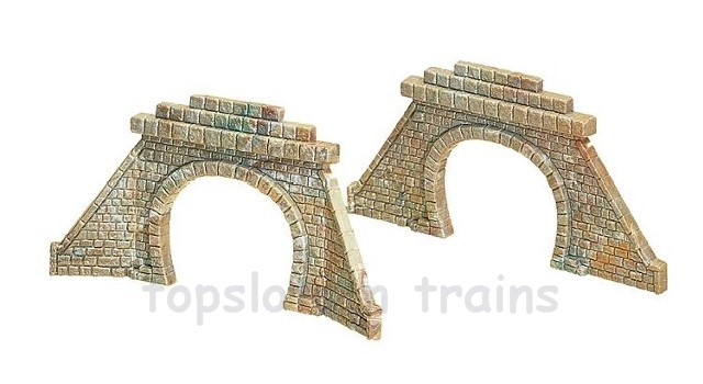 Faller 272576 N Scale Model - 2 X TUNNEL PORTALS / MOUTHS - DOUBLE TRACK