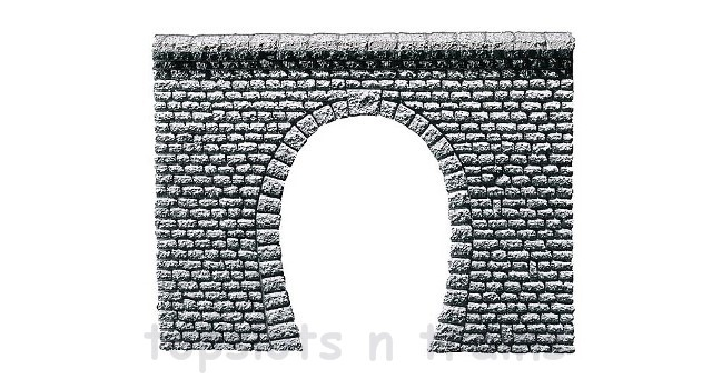 Faller 272630 N Scale Model - SINGLE TRACK TUNNEL PORTAL - NATURAL STONE ASHLARS